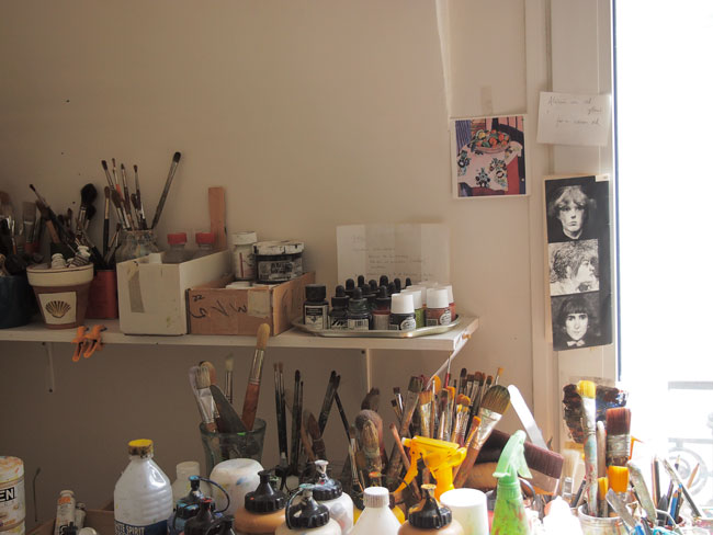 Susan Cantrick's studio
