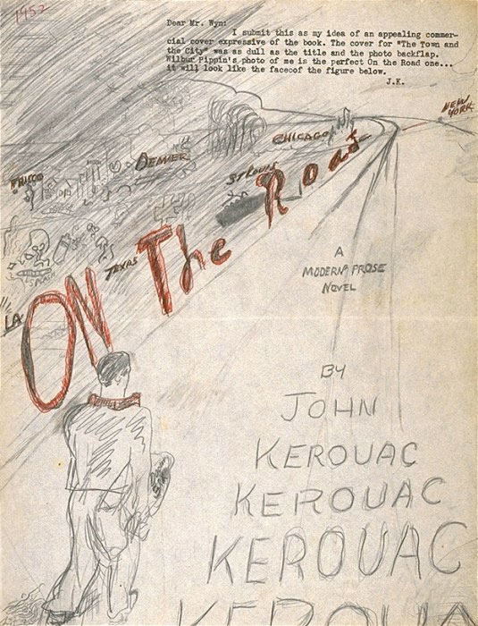 Jack Kerouac's original sketch for the cover