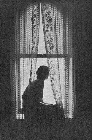Every so often ever so once in a while somedays a woman gets a chance to set at her window and look out