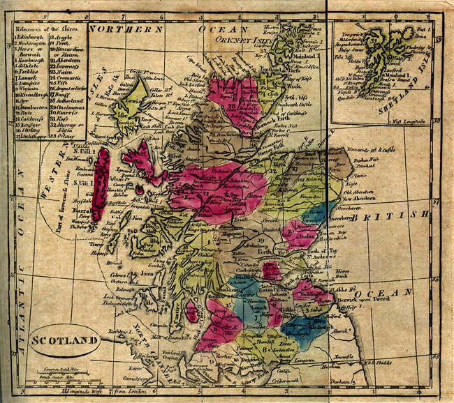 Map of the North of Scotland from 1805