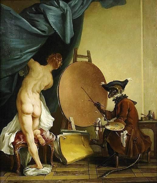 Jean Baptiste Henri Deshays, The Monkey Painter