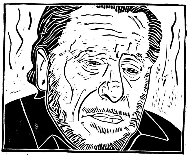 Bukowski woodcut